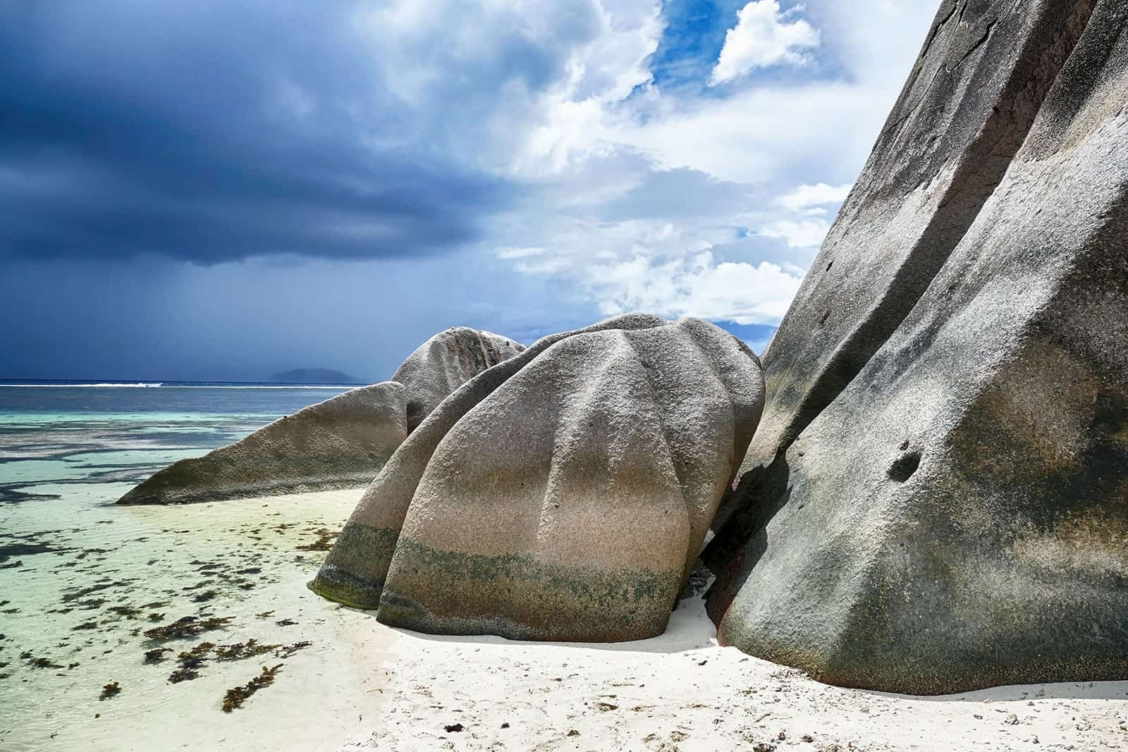Seychellen Insel La Digue Felsen